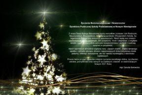 Życzenia Bożonarodzeniowe Dyrektora Szkoły