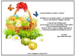Wielkanocne życzenia dyrektora szkoły